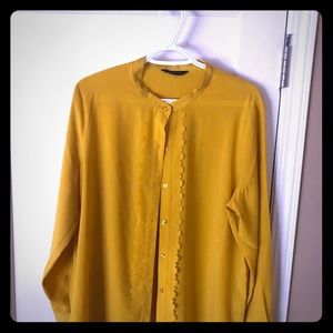 Deep yellow scalloped blouse
